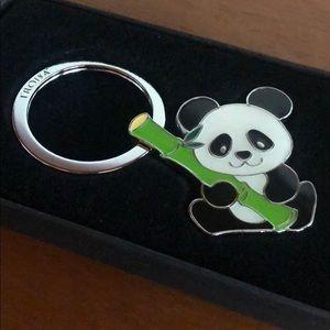 TROIKA Panda Bamboo Key Chain NIB